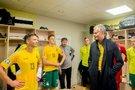G. Nausėda aplankė futbolininkus (nuotr. LFF.lt)