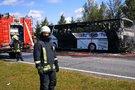 Sudegęs autobusas (nuotr. TV3)