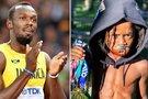 Usainas Boltas ir Rudolphas Ingramas (tv3.lt fotomontažas)