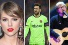 T. Swift, L. Messi ir Ed Sheeran (nuotr. SCANPIX) tv3.lt fotomontažas