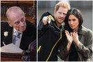 Princas Philip, princas Harry ir Meghan Markle (nuotr. SCANPIX) tv3.lt fotomontažas