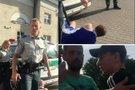 Nufilmavo policininko agresijos protrūkį: po pareigūno veiksmų krito lyg pakirstas (nuotr. facebook.com)