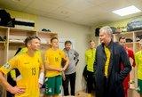 Futbolininkus aplankęs ir pagyręs Nausėda: labai keistas jausmas
