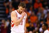 """Džiaugtis – anksti: """"Rockets"""" vadovai vis dar derasi su Donatu Motiejūnu ir NBA lyga"""