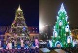 Išrink, kurio miesto eglė gražesnė: Vilniaus ar Kauno?