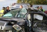 Avarija Vilniaus rajone – 2 žuvo po susidūrimo su sunkvežimiu