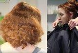Neįtikėtina, ką su Kristinos plaukais kirpykloje padarė meistrė