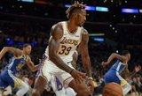 """""""Lakers"""" ir """"Warriors"""" dvikovoje – netikėtas lyderis ir išskirtinė detalė"""