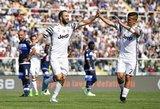 """""""Juventus"""" ir """"Napoli"""" šventė pergales, Romos komandos prarado taškų, Milano derbis baigėsi lygiosiomis"""
