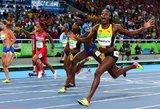 Olimpinių žaidynių Brazilijoje sprinto čempione vėl tapo Jamaikos bėgikė