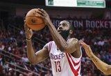 "D. Motiejūnas liko be taškų, o ""Rockets"" įveikė ""Nuggets po pratęsimo"