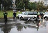Vilniuje nukentėjo motociklininkas