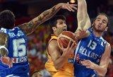 Pergalingai žaidžiantys Graikijos krepšininkai – jau kitame etape