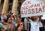 """Gruzijoje tęsiasi protestai prieš """"putinizmą"""" ir oligarchą Ivanišvilį"""
