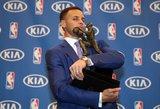 Dar vienas rekordas: Stephenas Curry vienbalsiai išrinktas NBA lygos naudingiausiu krepšininku