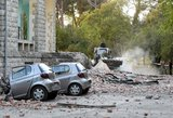 Parodė, kas dėjosi per žemės drebėjimą Albanijoje: vestuvių šventė virto košmaru