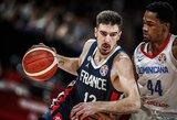 Prancūzija 34 taškų skirtumu  sutriuškino Dominikos Respubliką