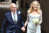 Karališka santuoka iš arti: Ruperto Murdocho ir supermanekenės ceremonija bažnyčioje