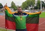 Lietuvio triumfas Europos kurčiųjų čempionate: auksas ir pasaulio rekordas
