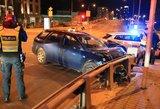 Gaudynės Vilniuje: girtas vairuotojas spruko leisdamas žiežirbų spiečius