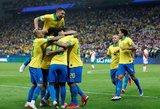 """""""Copa America"""": įpykę brazilai pasiekė didžiausią turnyro pergalę"""