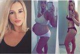 Po nėštumo numetė daugiau, nei 20 kilogramų: į sporto klubą nė neįžengė