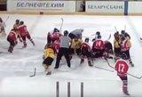 Dvylikamečiai Lietuvos ir Ukrainos ledo ritulininkai mačą baigė masinėmis muštynėmis