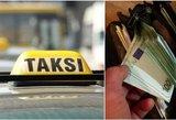 Vilniuje keleivis sumušė taksi vairuotoją