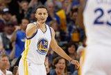"""Įspūdinga: NBA lyderis """"Warriors"""" įmetė tūkstantąjį tritaškį šį sezoną"""
