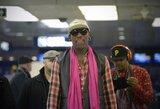 """D. Rodmanas atvyko pas savo """"mylimą draugą"""" diktatorių Kim Jong Uną"""