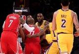 """Los Andžele – muštynės ir LeBrono """"Lakers"""" pralaimėjimas"""