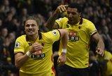 """Dramatiška """"Watford"""" pergalė apkartino """"Leicester City"""" trenerio debiutą"""