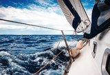 Kuršių mariose apvirto jachta su trimis vaikais – gelbėtojai pasitelkė sraigtasparnį
