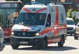 Kraupi nelaimė Vilniuje: susidūrė BMW ir motociklas