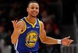 """Šio sezono savo tritaškių rekordą pagerinęs Curry vedė """"Warriors"""" į pergalę"""