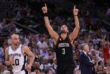 """""""Rockets"""" įspūdinga pergale atėmė """"Spurs"""" aikštės pranašumą"""