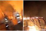 Vilniaus rajone liepsnos užkūrė tikrą pragarą: degė didžiulis žirgynas