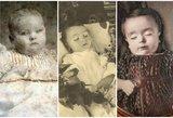 Pomirtinė kūdikių fotografija kelia siaubą: šalia atsimerkusių lavonų – šeimos nariai