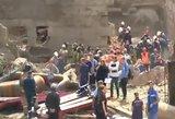 Vaizdai iš nelaimės Rusijoje: sugriuvo namas, žuvo žmonės
