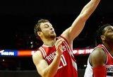 """Donatui Motiejūnui šio sezono debiutas """"Rockets"""" starto penkete apkarto"""