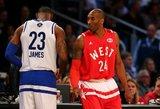 """Visų žvaigždžių rungtynėse triumfavo """"Vakarų"""" ekipa, o Rusellas Westbrookas vėl tapo naudingiausiu žaidėju"""