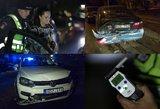 Girta maskvietė per policijos reidą Vilniuje sukėlė didžiulę avariją ir bandė sprukti
