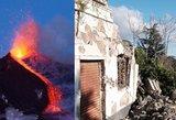 Nelaimės nesibaigia: po Etnos ugnikalnio išsiveržimo – žemės drebėjimas