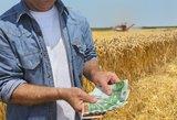 Vyriausybė skyrė 33,9 mln. eurų ūkininkams