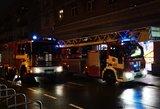 Vilniaus centre sujudimas: į Vokiečių gatvę sulėkė gausios ugniagesių pajėgos