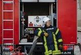 Gaisras Šalčininkų rajone: namas degė atvira liepsna