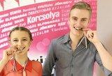 Lietuvos šokių ant ledo porai - medaliai