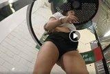 Futbolo federacijos burtų traukimo vaizdo įrašas: aistras kurstė pusnuogė mergina