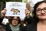 Konfliktas Italijoje: šakalais pavadinti žurnalistai išėjo protestuoti