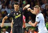 """Cristiano Ronaldo vargai Italijoje – """"Juventus"""" pergalės fone dar vienas tuščias pasirodymas"""